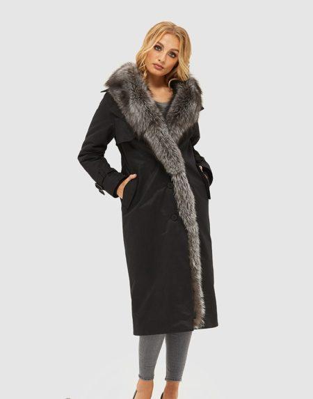 Sort design frakke