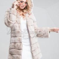 Lys beige pelse jakke