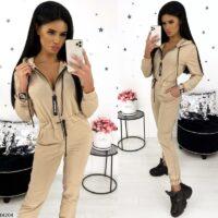 smart feminin beige buksedragt